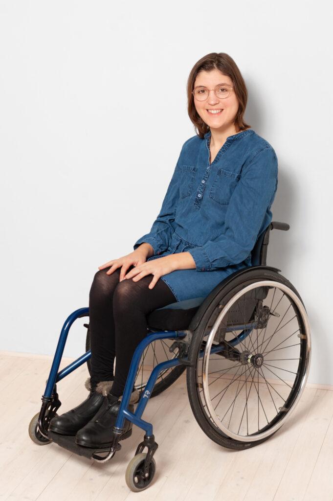 Bild von Mechthild Kreuser im Rollstuhl